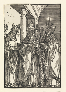 Print, Bishops Nicholas, Ulric, Erasmus