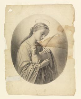 Drawing, Saint Agnes
