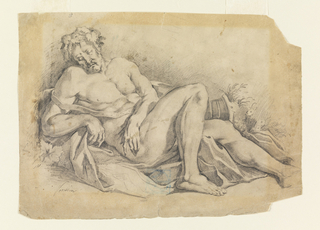 Drawing, Bacchus Sleeping (after Poussin)