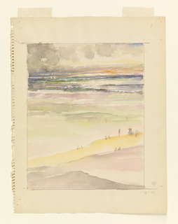 Drawing, Beach Scene (Saint Tropez?)