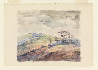 Drawing, A Wooded Hillside