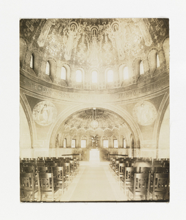 Photograph, View of the Interior of Lakewood Cemetery Memorial Chapel, Minneapolis