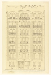 Photostat, Rendering of the Elevation of a Facade of a Proposed Apartment House