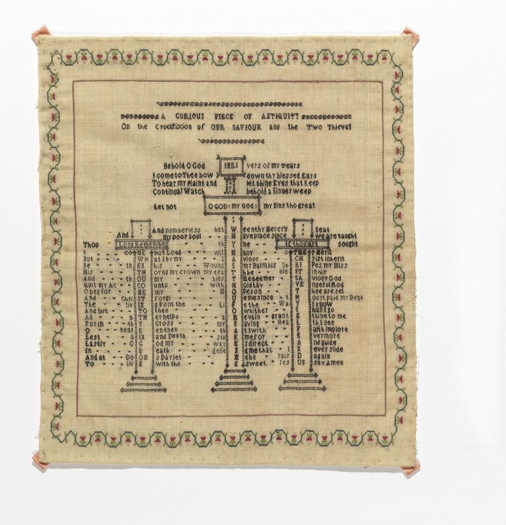 Religious verse arranged as an acrostic.