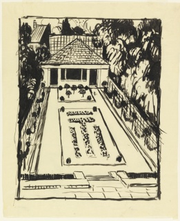 Drawing, Study for a Gazebo and Terrace Garden