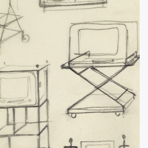 13 designs for rolling television and plant carts.