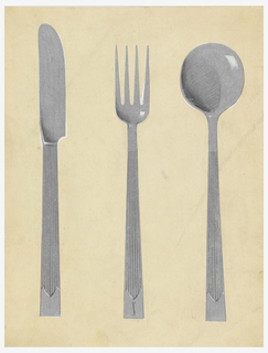 Drawing, Design for Knife, Fork and Spoon