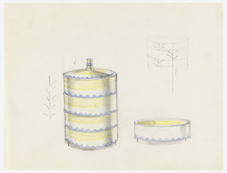 Design for 4 stacking ashtrays.
