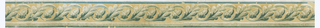 Narrow border, cream colored background with alternating oak leaves and acorn.