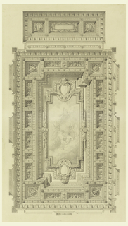 Drawing, Ceiling of Courtroom, Federal Building, Cleveland, OH