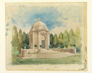 Drawing, Rendering for Bliss Family Mausoleum