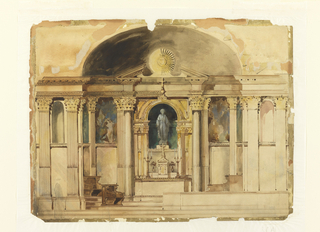Drawing, Rendering of Chancel