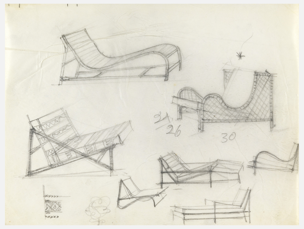 Design for 3 chaises and 4 chairs.