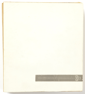 Blank album cover with Donald Deskey logo.