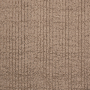 Fine, coffee-colored silk with puckered texture in vertical columns.