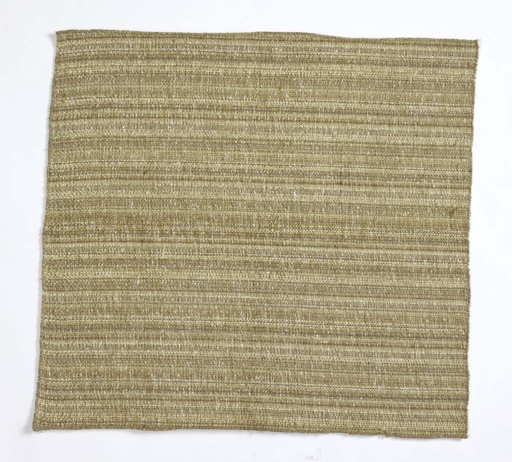 Heavy fabric in shades of beige.