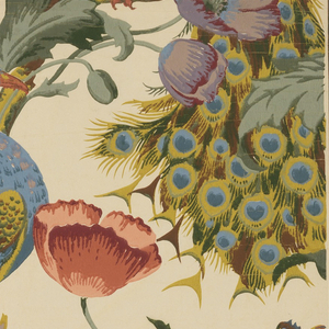 Sidewall, The Peacock, ca. 1890, Cooper Hewitt, Smithsonian Design Museum
