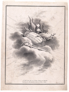 Print, Title Page of a Set of Representations of Battles Fought by Rene Duquay-Trouin (1673–1736)