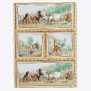 Sidewall, The Horse Fair, 1855-75, Cooper Hewitt, Smithsonian Design Museum