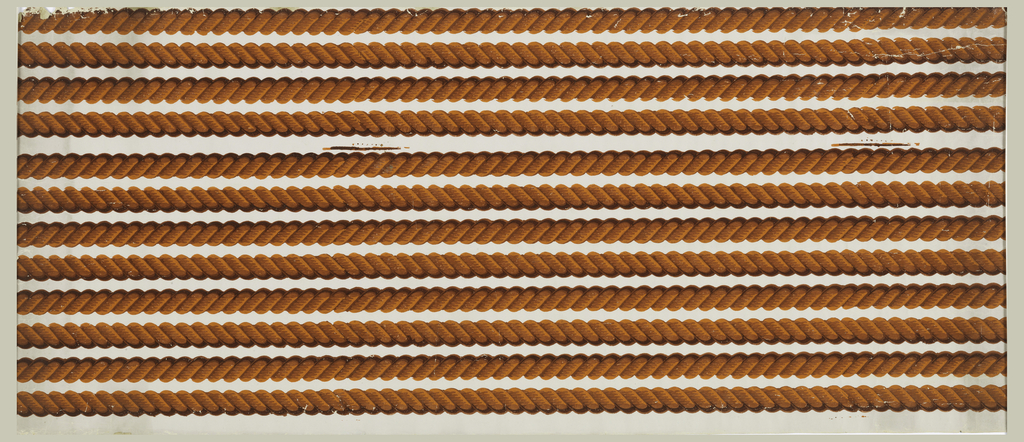 Narrow cable molding or rope twist border. Printed in shades of orange.  H# 341B