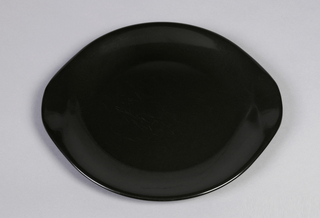 Black satin finish dinnerware.