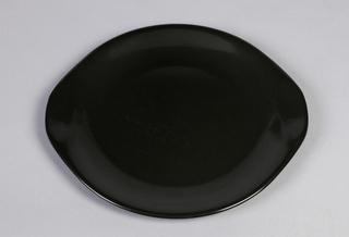 Black satin finish dinnerware.