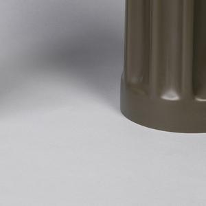 Black cylindrical fluted vase.