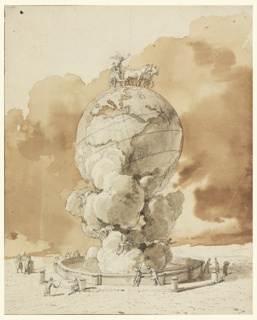 Drawing, Design for a Public Monument to be Erected on a Paris Square
