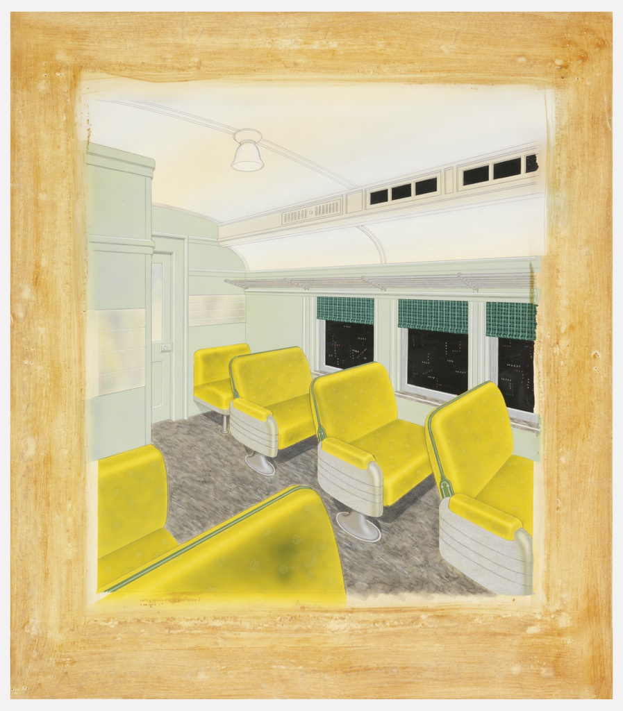 Drawing, Interior Color Treatment for MP-54 Coach Passenger Car