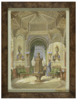Drawing, Design for a Moorish Smoking Room [Tabagie], ca. 1844