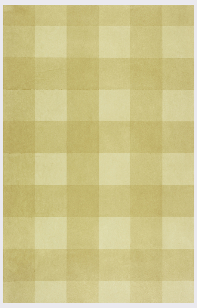 All-over pattern of large-scale tan grid or plaid design.
