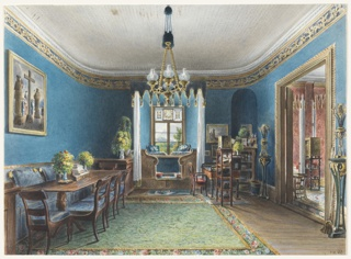 Drawing, The Blue Room, Schloss Fischbach
