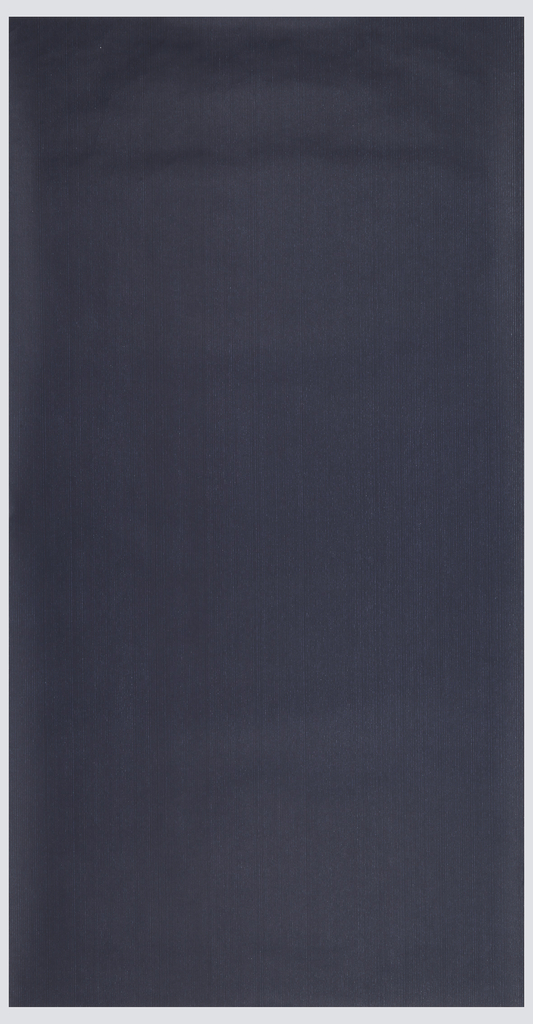 Dense design of extremely thin white pinstripes on navy blue ground; pinstripes often appear partially worn or erased.