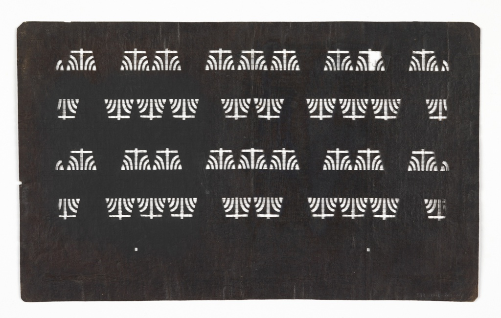 Stencil, Stylized Iris Pattern