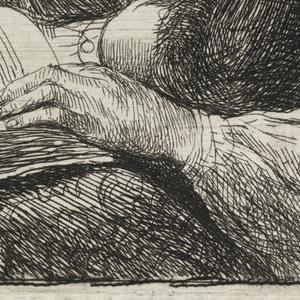 Print, Woman Reading