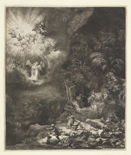 Print, Annunciation to the Shepherds