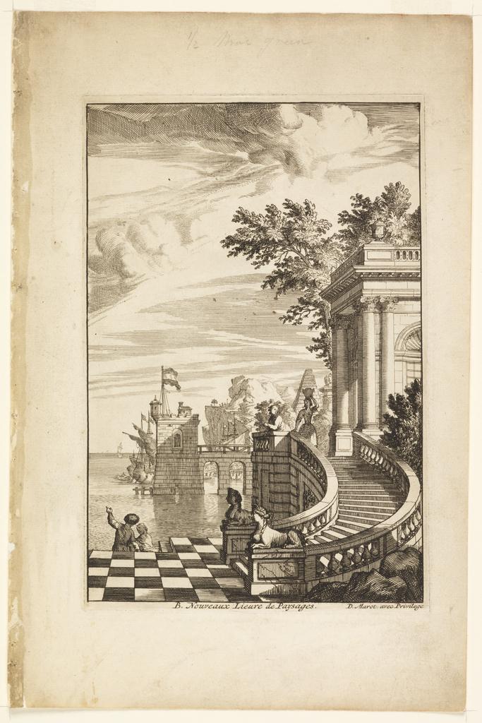 Print, Title Page, Nouveaux Livre de Paysages (New Book of Landscapes)