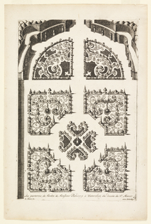 Print, Les parterres du Jardin de Monsieur Rendrop à Watervliet (The Garden Beds of Monsieur Rendrop in Watervliet), in Nouveaux Livre de Parterres contenant 24 pensséz diferantes (New Book Containing 24 Different Variations for Garden Beds)