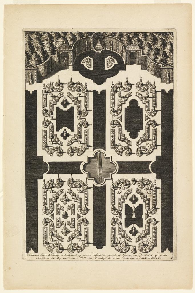 Print, Title Page, from Nouveaux Livre de Parterres (New Book of Garden Beds)