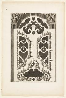Print, Plate in Nouveaux Livre de Parterres contenant 24 pensséz diferantes (New Book Containing 24 Different Variations for Garden Beds), ca. 1700