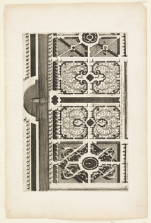 Print, Partiée du Jardin de Terichelo appartement à Monsieur le Baron (Part of Garden Apartment of the Monsieur le Baron), in Nouveaux Livre de Parterres contenant 24 pensséz diferantes (New Book Containing 24 Different Variations for Garden Beds)