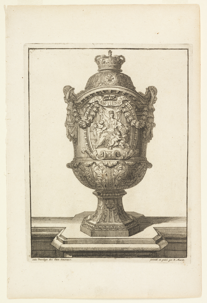 Print, Design for Footed Vase, in Vasses de la Maison Royalle de Loo Nouvellement (New Vases for the Royal House of Loo)