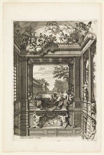 "Print, Trompe l'Oeil Painting, Decoration for the Staircase, De Voorst, The Netherlands, Plate from ""Nouveaux livres de peintures de salles et d'Escaliers"""