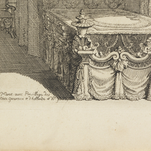 Design for a bedchamber in shell theme.