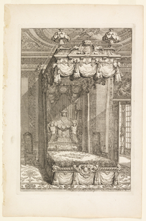 Print, Design for State Bedchamber, in Second Livre d'Appartement (Second Book on Interiors)
