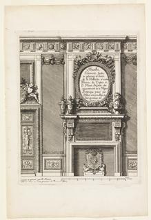Print, Title Page, Nouvelles Cheminée faittes en plusieur en droits (New Designs for Fireplaces)