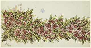 Drawing, Design for a printed framing, pattern no. 4 of the Fabrique de St. Ruf