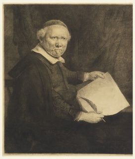 Print, Lieven Willemsz van Coppenol, Writing-Master: larger plate