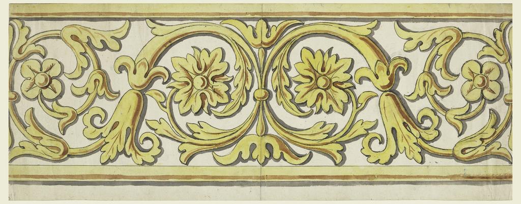 Drawing, Design for Woven Horizontal Border