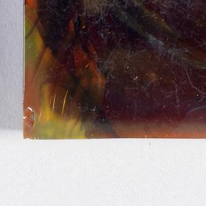 Burgundy glass, abstract design.